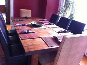 Bamboo Dining Table & Chairs