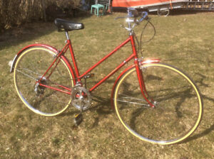 Red Vintage 70's Raleigh 10 Speed From England