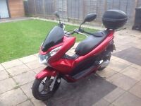 Honda PCX WW 125-D RED 2013 !4600 miles Excellent Condition