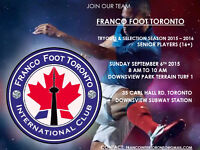 Soccer Tryouts Toronto - Senior 16+ - Competitive Level