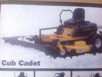"""Heavy duty US-made 60"""" snowplow, made for ZTR mowers"""
