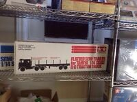 TAMIYA FLATBED SEMI-TRAILER FOR 1/14 SCALE RC TRACTOR TRUCK