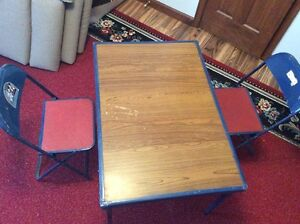 Childrens Folding Table & 2 Chairs