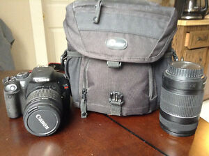 Canon T2i SLR Camera w/ 18-55mm & 55-250mm lenses