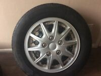 Transit connect set of 4 wheels with as new tires