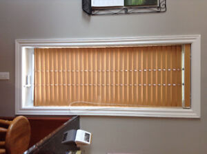 Maple blinds ...excellent condition .  Changed decor to white