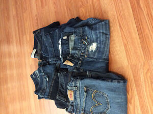 Gently used jeans: