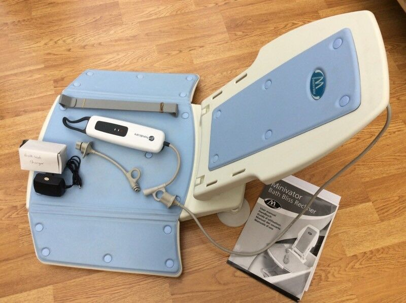 Minivator bath bliss recliner lift complete with battery charger ...