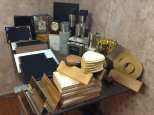 Trophy- and Plaque-making stock supplies - LARGE LOT!!