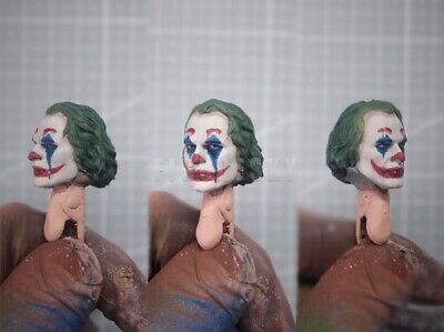 "Painted 1//12 Super Villains Clown Prince Joker Head Sculpt fit 6/"" Figure One:12"