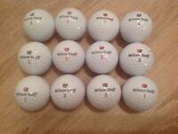 12 WILSON STAFF GOLF BALLS IN ABSOLUTELY MINT CONDITION