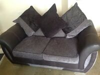 2 Sofas - 1x 2 seater sofa and 1x 3 seater - Fabric Black DFS Shannon Model