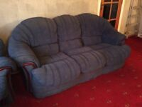 3 2 and swivel recliner and large footstool, sofa suite