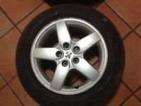 "16"" PEUGEOT 407 ALLOY WHEELS ALLOYS TYRES WHEELS RIMS PCD 5X1O8 FITMENT"