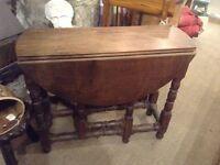 Small vintage gateleg table
