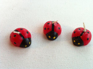 Lot of 6 Lucky Ladybugs Beetle Shaped Candles Red & Black Peterborough Peterborough Area image 2
