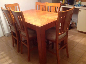 For Sale Pub Style kitchen Table and 6 chairs