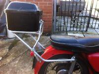 Motorbike rack and top box