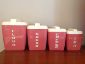 "VINTAGE/RETRO ""BURRITE"" CANNISTER SET"