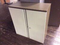 Two tone brown storage cupboard
