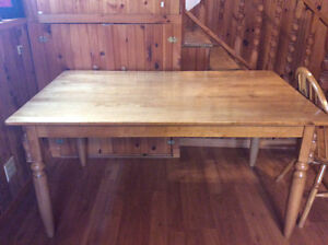 Dining Table with 4 Chairs & Bench