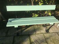 Bespoke garden bench with original cast iron ends