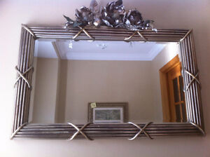 MIRROR WITH SILVER framing size : 37 x 24 inches West Island Greater Montréal image 1