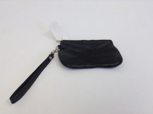 100% Genuine Leather Black Wristlet – BRAND NEW WITH TAGS