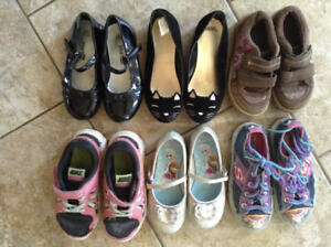 Lot of Little Girls Sneakers and Shoes Size 9.5-11