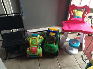 Yard sale Baby Saucer and more