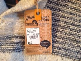 MANTARAY HOLBECK KNITWEAR JUMPER SIZE XL. NEW WITH TAGS. Cost £50 accept £25.