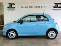 2013 Fiat 500 1.2 Pop 3dr (start/stop) Petrol blue Manual