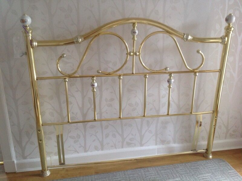 Traditional 5ft Metal Headboard Rose Gold Colour
