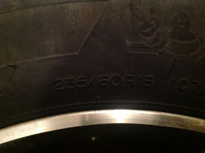 Audi Q7 winter tire and rims package with TPS Peterborough Peterborough Area image 2