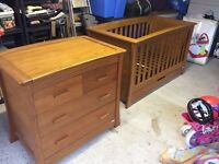 Mamas & Papas Ocean Cot/bed and Changer/dresser