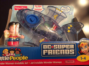 New in Box - Wonder Woman Invisible Jet - Little People Set