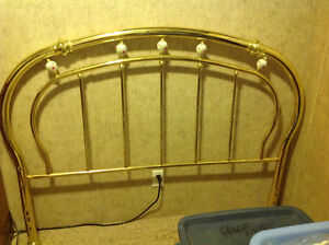 Queen Brass Headboard Kawartha Lakes Peterborough Area image 1