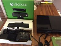 Xbox one with Kinect. Boxed in great condition. £140.