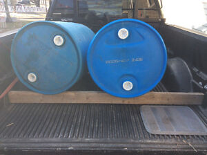 Two barrels with caps