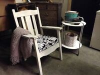Solid wood shabby chic chair
