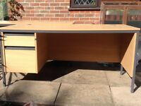 LARGE OFFICE DESK WITH 2 DRAWERS