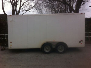 2015 V-Nose 16' Tandem Axle Enclosed Trailer w/ Ramp Door