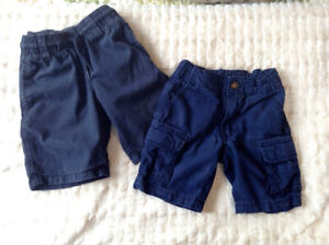 Toddler boy shorts 18-24 mos, 2T and one romper 24 mos