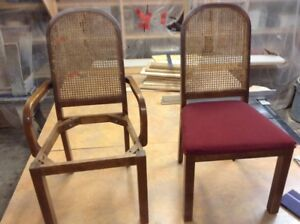 12 Wood chairs - 2 with arms - very solid 780 467 2217