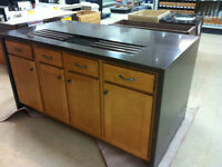 """Complete Kitchen Island 69"""" x 37"""" Concrete Countertop with Sink"""