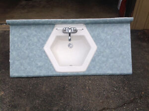 """Vanity countertop 48"""" with sink and faucet"""