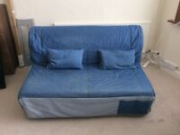 Two seater sofa bed from ikea