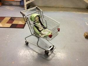 Stainless steel child shopping cart just like the big ones Windsor Region Ontario image 2