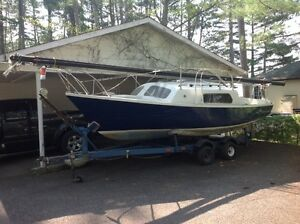 Matilda 20 sailboat, motor & trailer