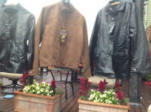 Armani Emporio new jackets  brand new leather and suede